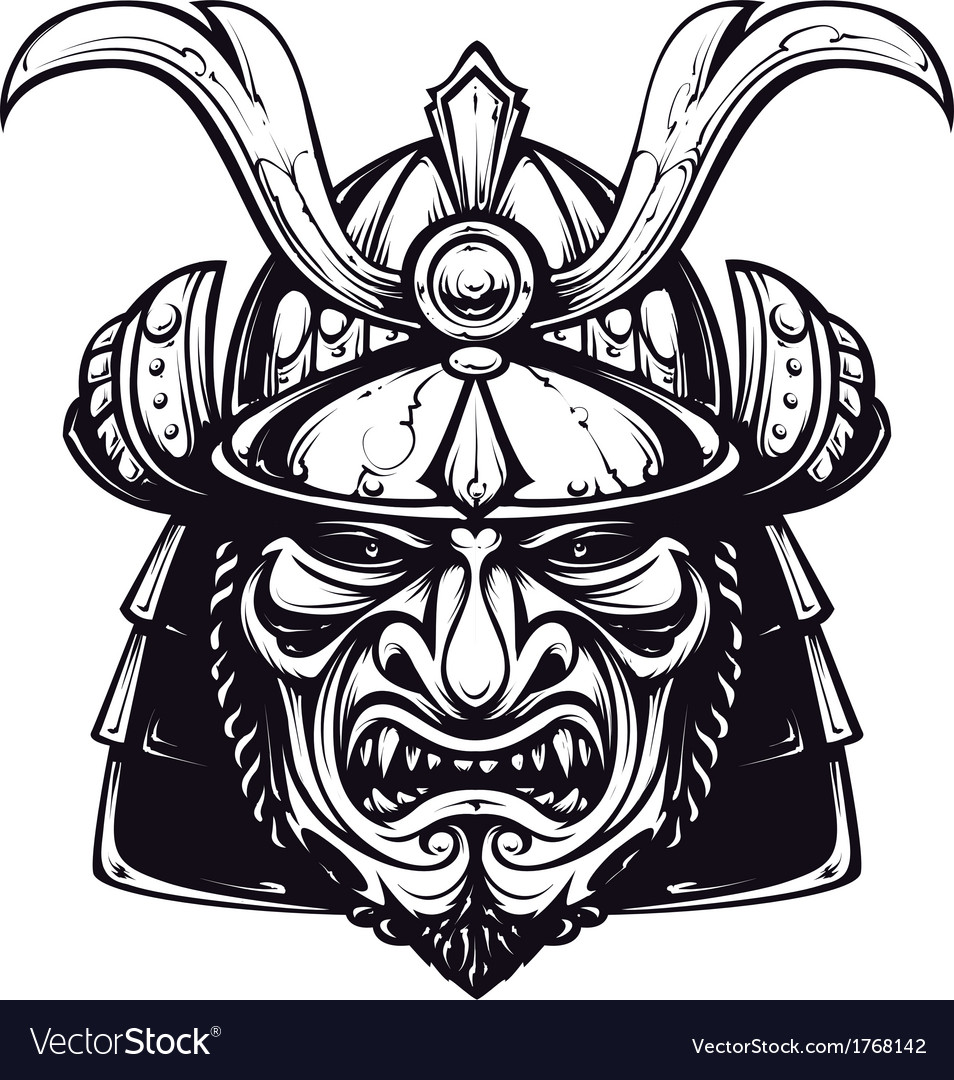 Samurai mask 4 vector