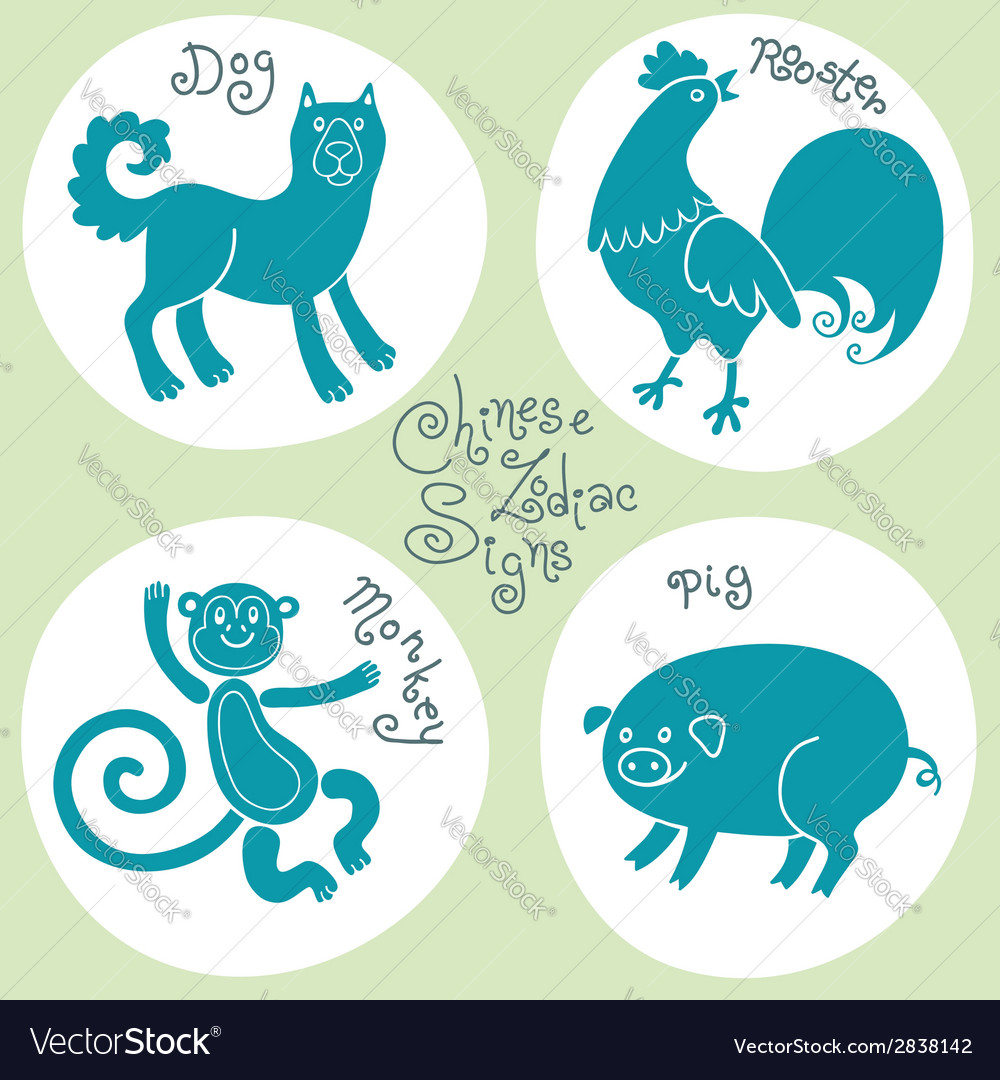 Set signs of the chinese zodiac vector   Price: 1 Credit (USD $1)