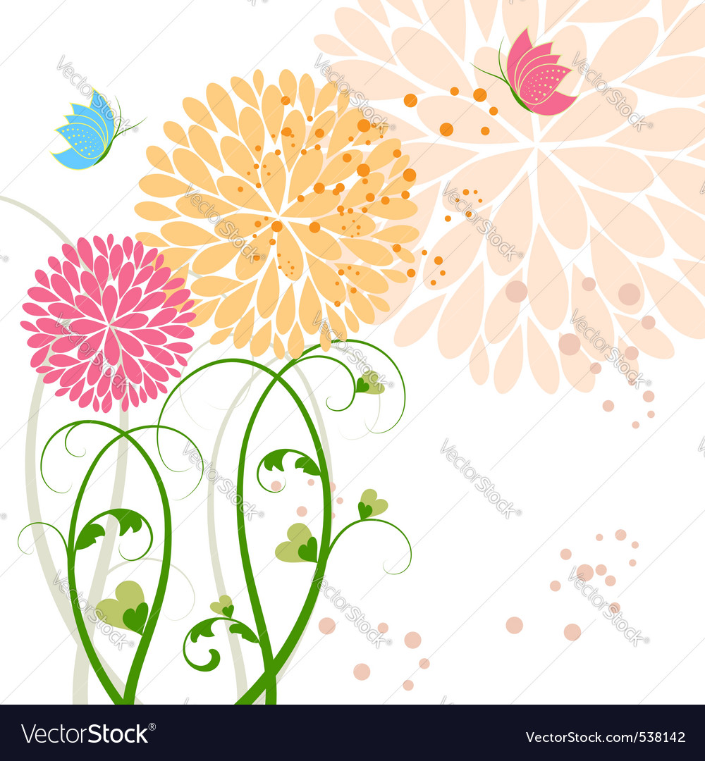 Springtime background vector | Price:  Credit (USD $)