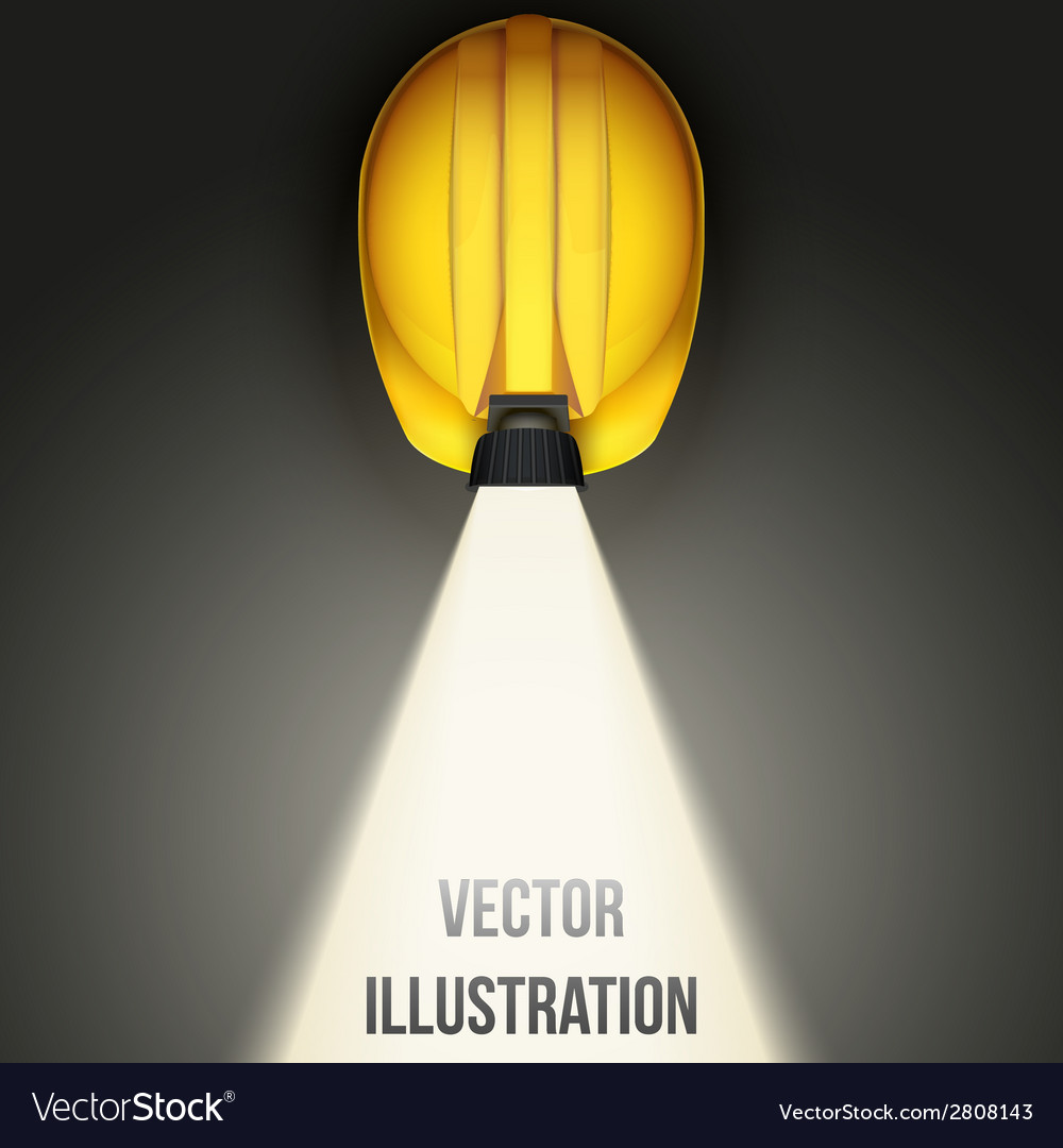 Background of classic vintage miners helmet with vector | Price: 1 Credit (USD $1)