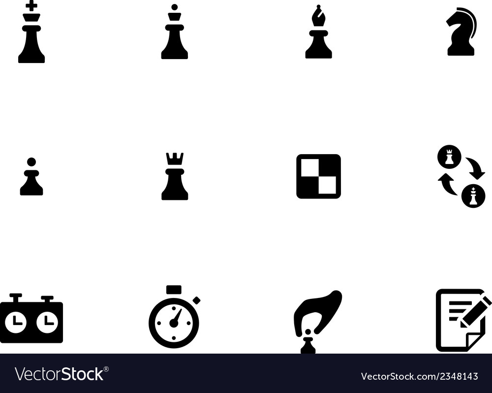 Chess icons on white background vector | Price: 1 Credit (USD $1)