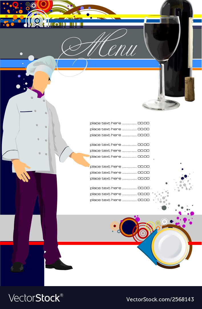 Restaurant menu 001 vector | Price: 1 Credit (USD $1)