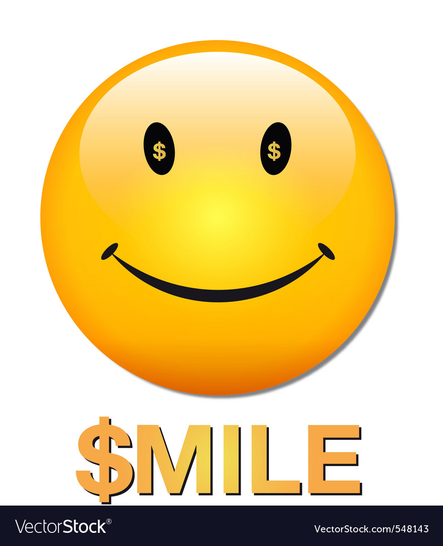Rich smiley vector | Price: 1 Credit (USD $1)