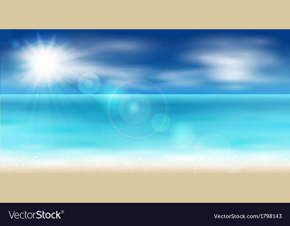 Sea coast vector | Price: 1 Credit (USD $1)