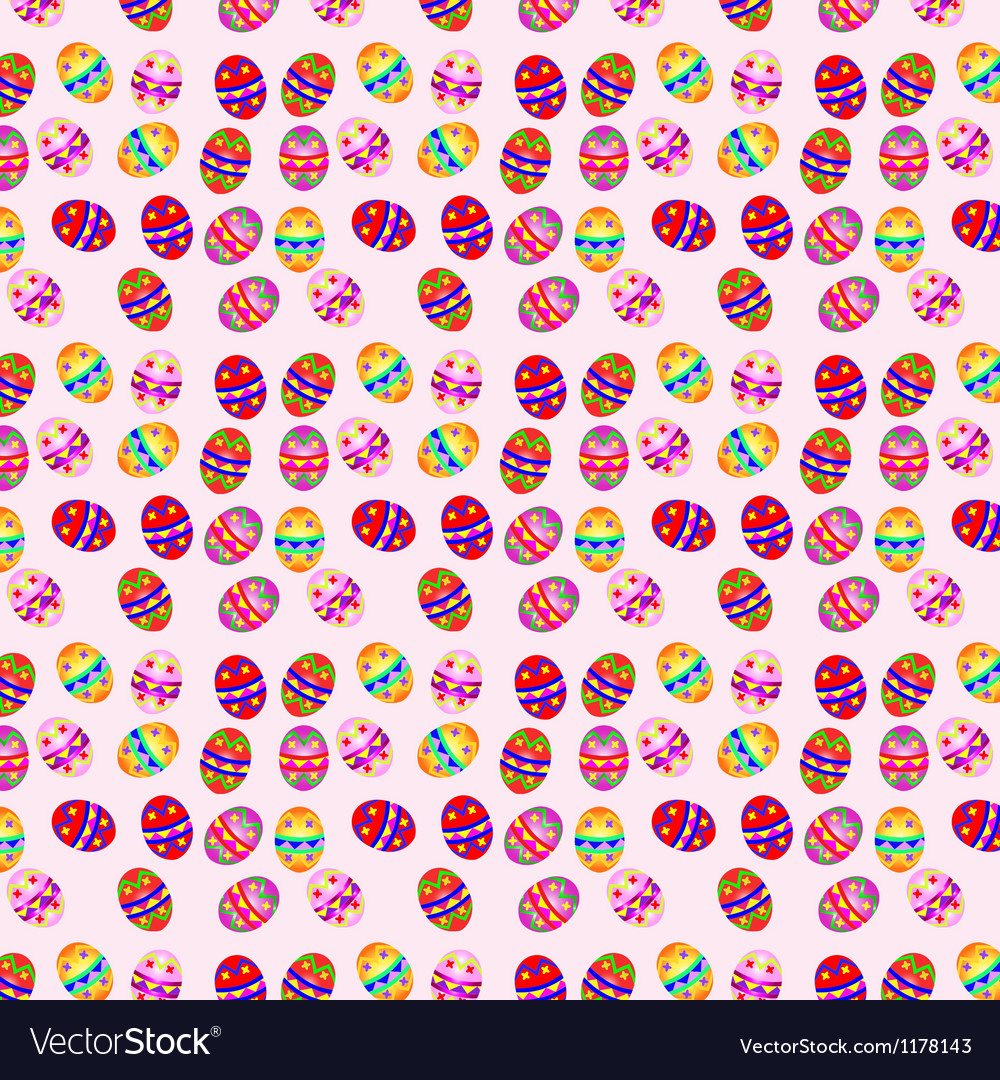 Seamless background with easter eggs vector   Price: 1 Credit (USD $1)