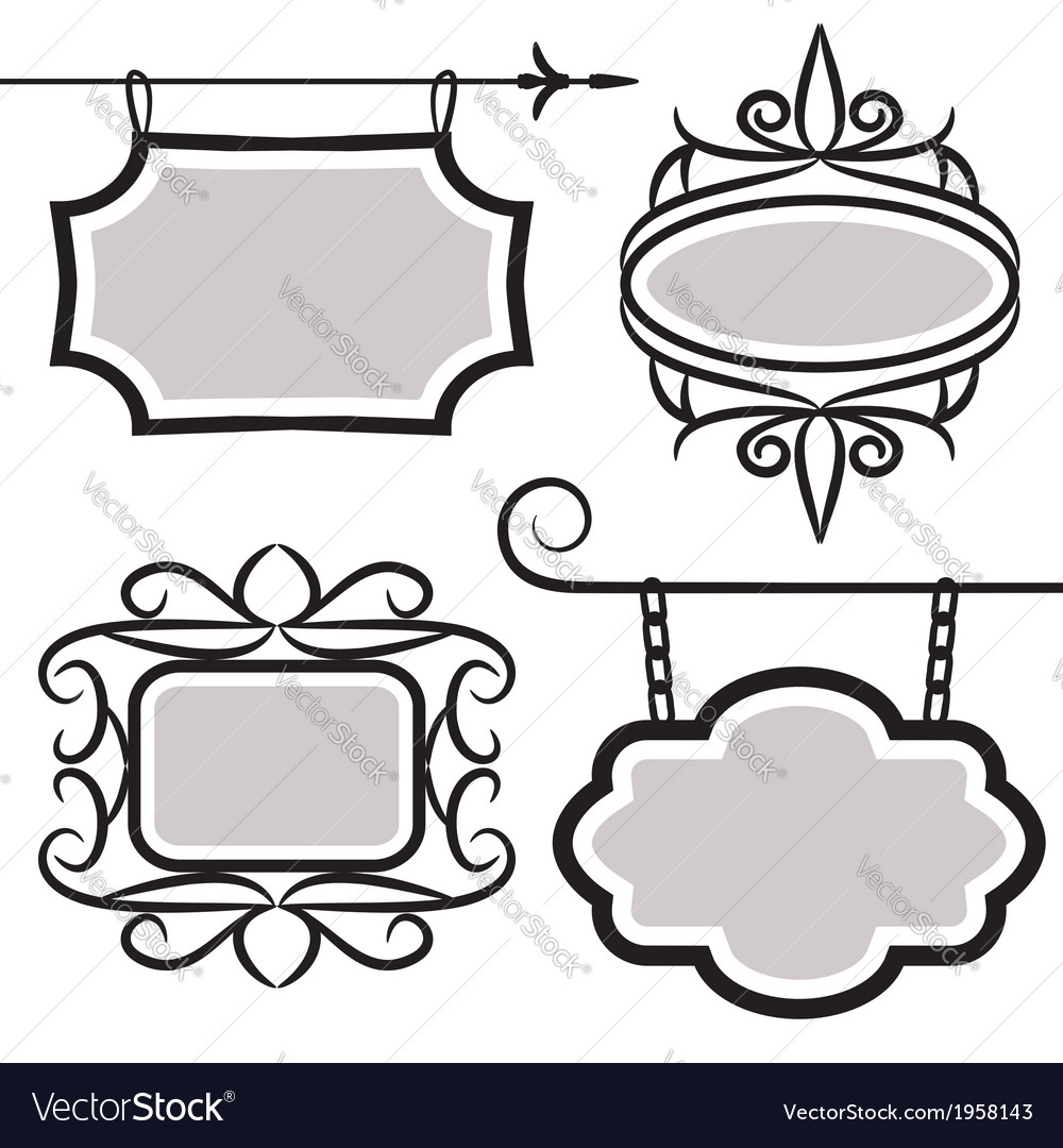 Signboard set vector | Price: 1 Credit (USD $1)