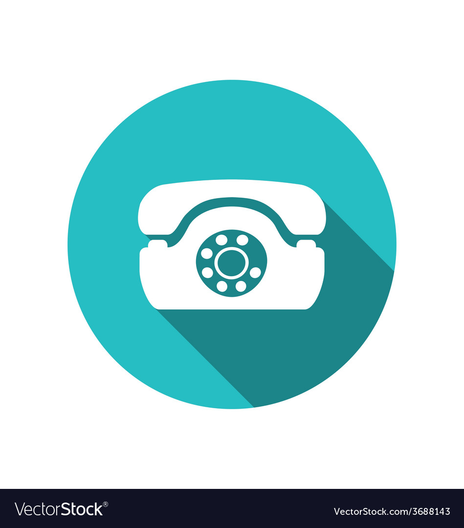 Web icon of retro telephone trendy flat minimal vector | Price: 1 Credit (USD $1)
