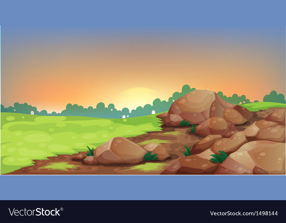 A group of rocks vector | Price: 1 Credit (USD $1)