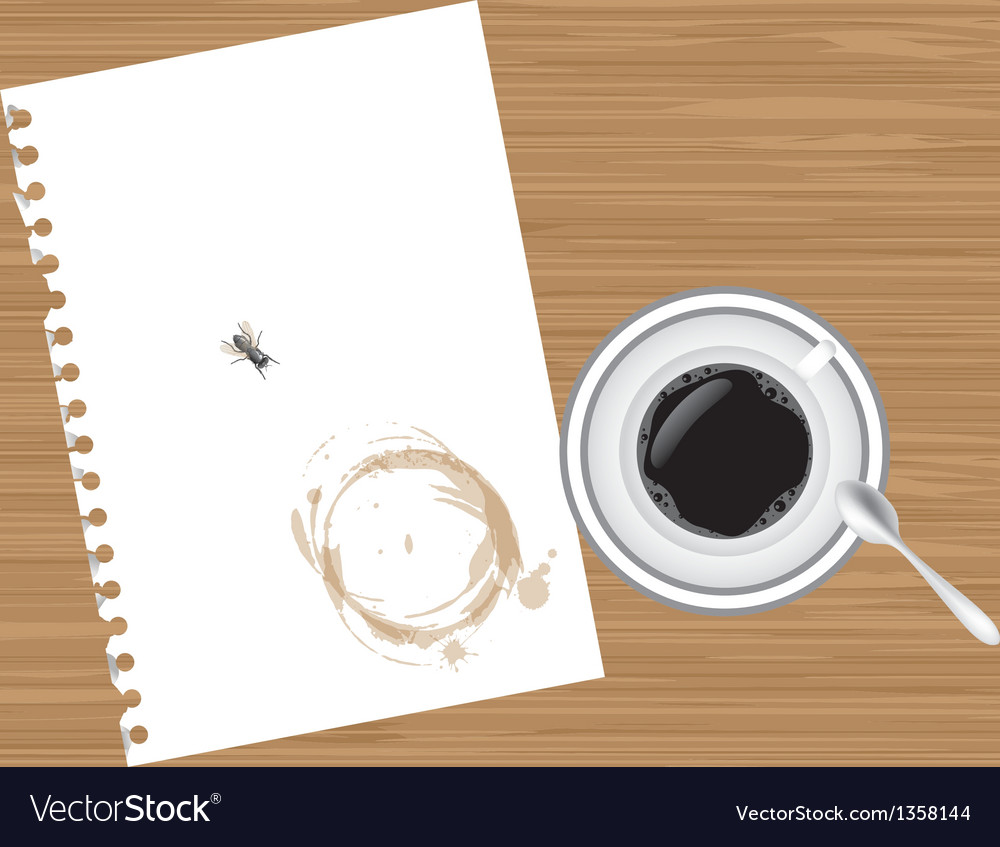 Coffee and paper vector | Price: 1 Credit (USD $1)