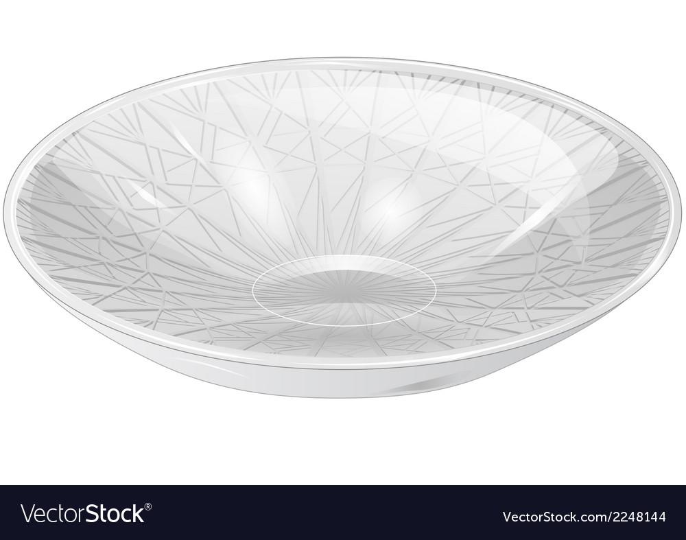 Empty white bowl vector | Price: 1 Credit (USD $1)