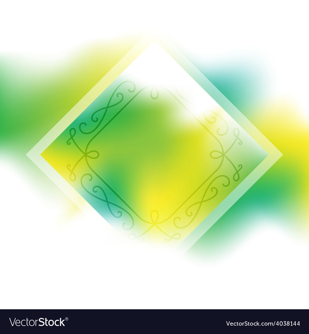 Fresh spring background with border abstract vector | Price: 1 Credit (USD $1)