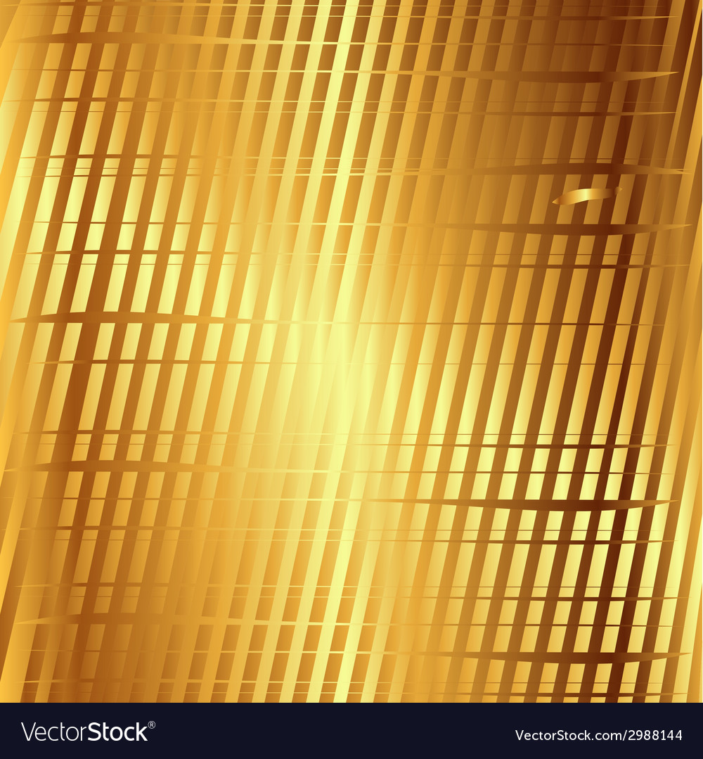 Golden background with grid strips texture pattern vector | Price: 1 Credit (USD $1)