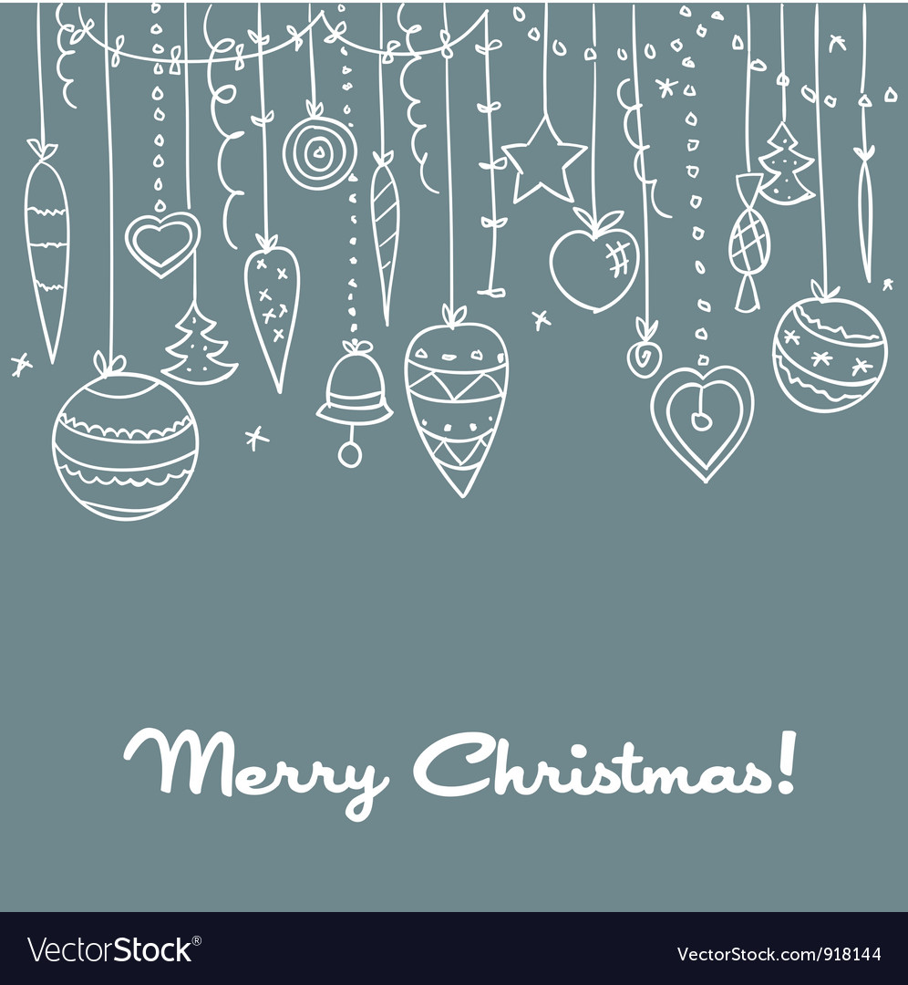 Hand drawn christmas background vector | Price: 1 Credit (USD $1)