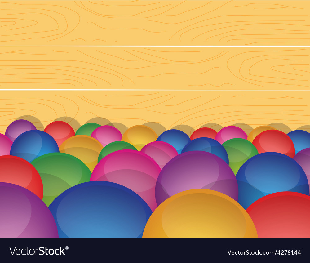 Marble ball background in a wooden box vector | Price: 1 Credit (USD $1)