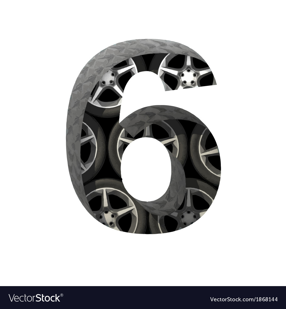 Metal and wheels cutted figure 6 paste to any vector   Price: 1 Credit (USD $1)