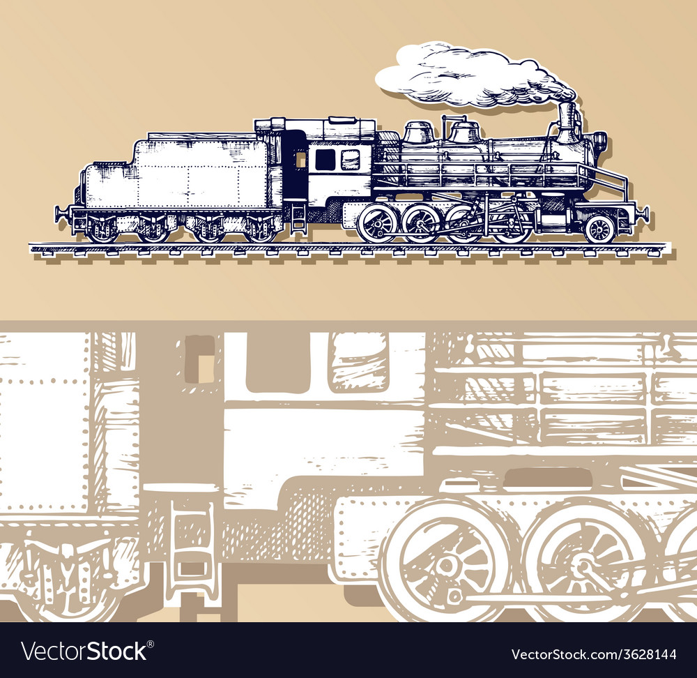 Vintage train vector   Price: 1 Credit (USD $1)