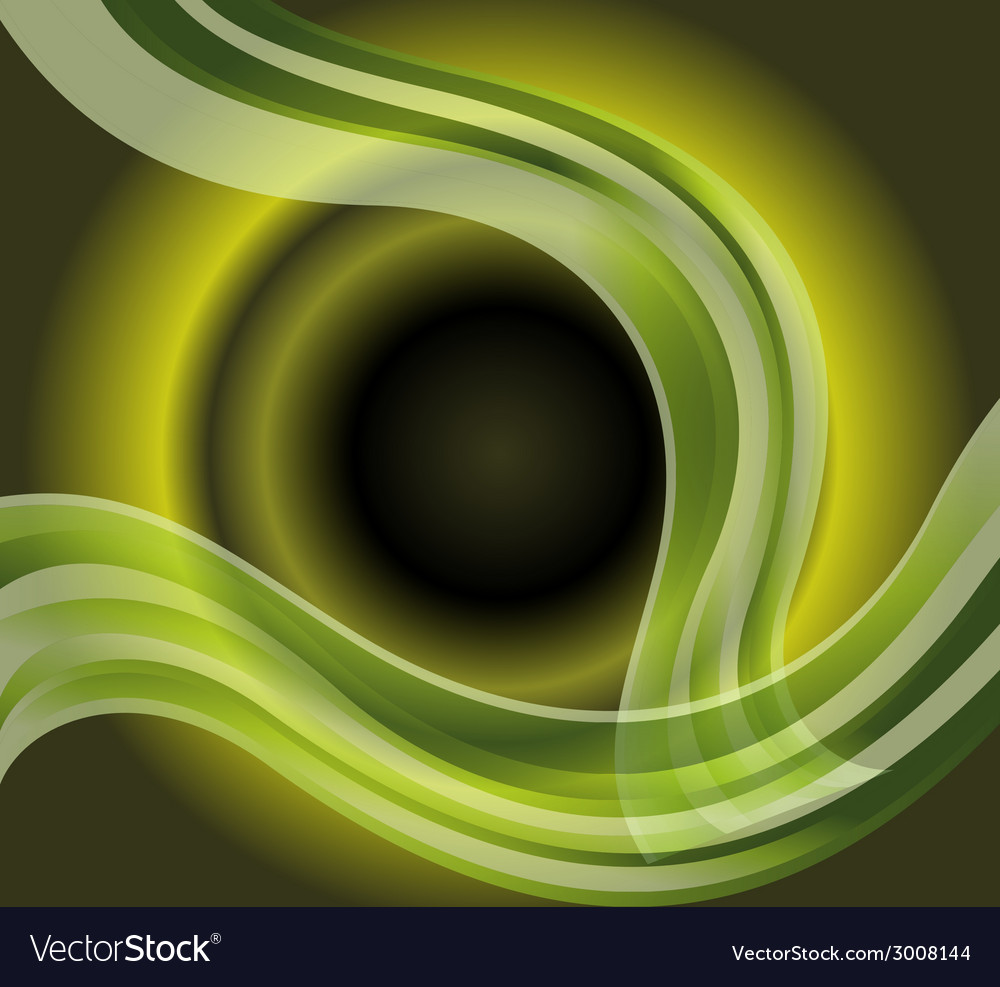 Waves on circle light green background vector | Price: 1 Credit (USD $1)