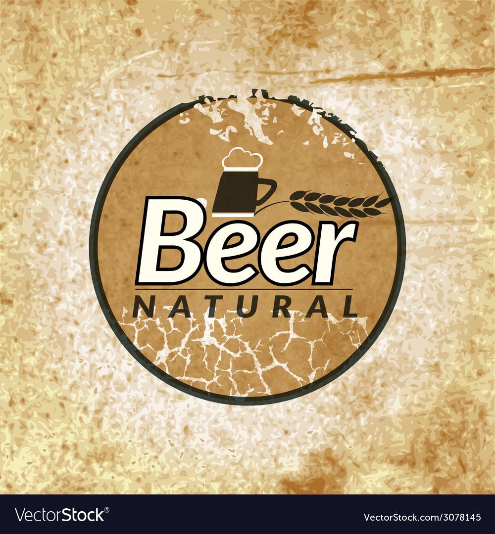Beer vintage label vector | Price: 1 Credit (USD $1)