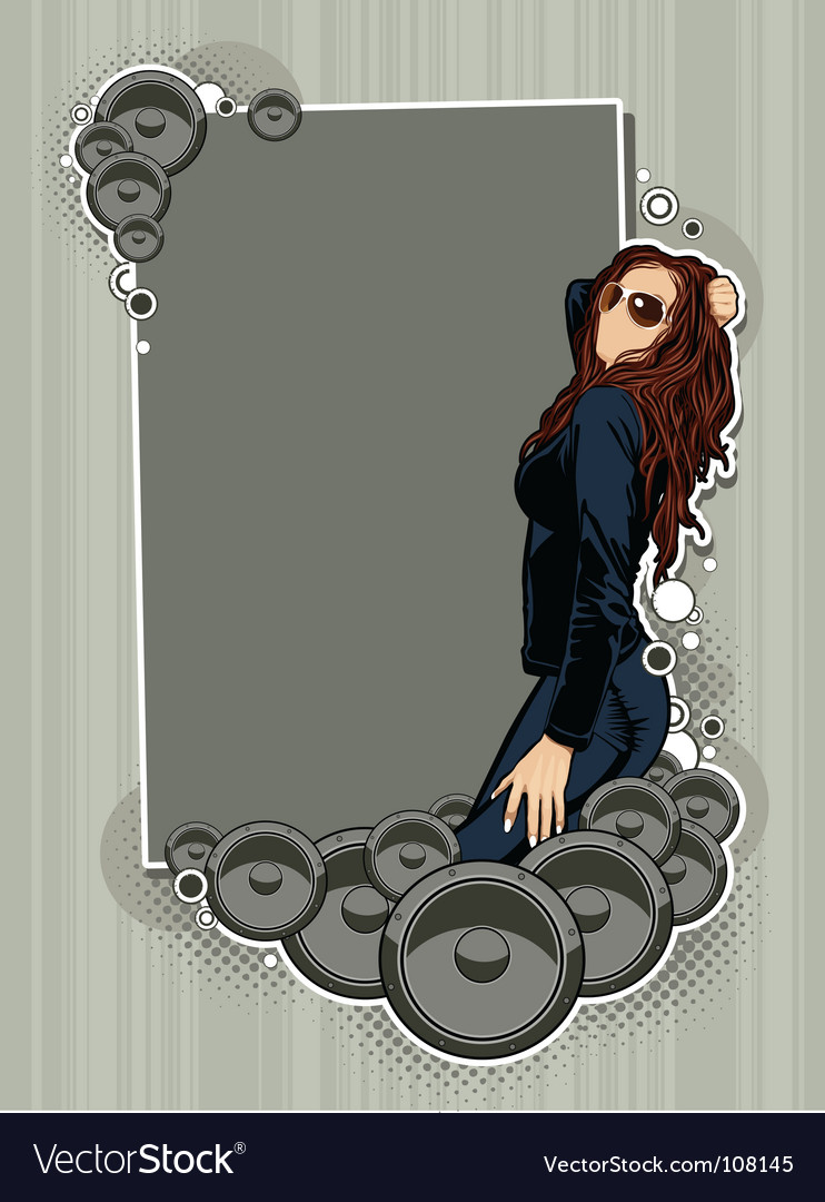 Cartoon girl vector | Price: 3 Credit (USD $3)