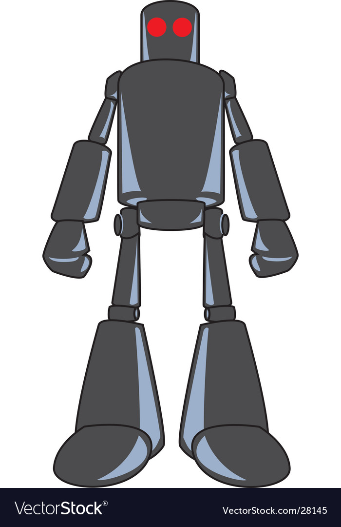 Looming robot-color vector | Price: 1 Credit (USD $1)