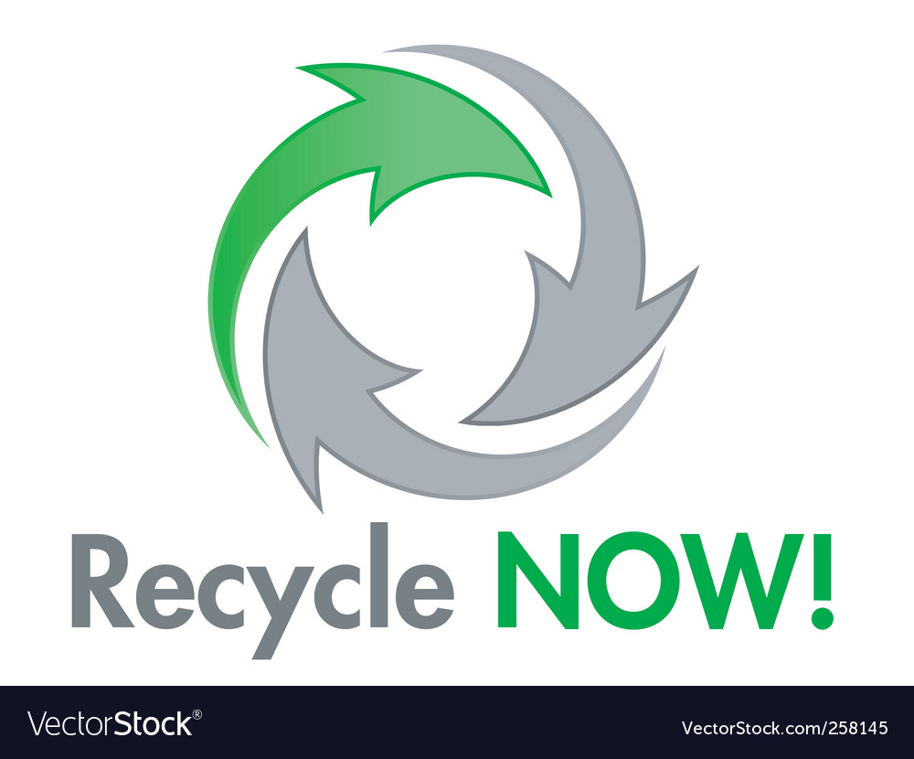 Recycle now design element vector | Price: 1 Credit (USD $1)