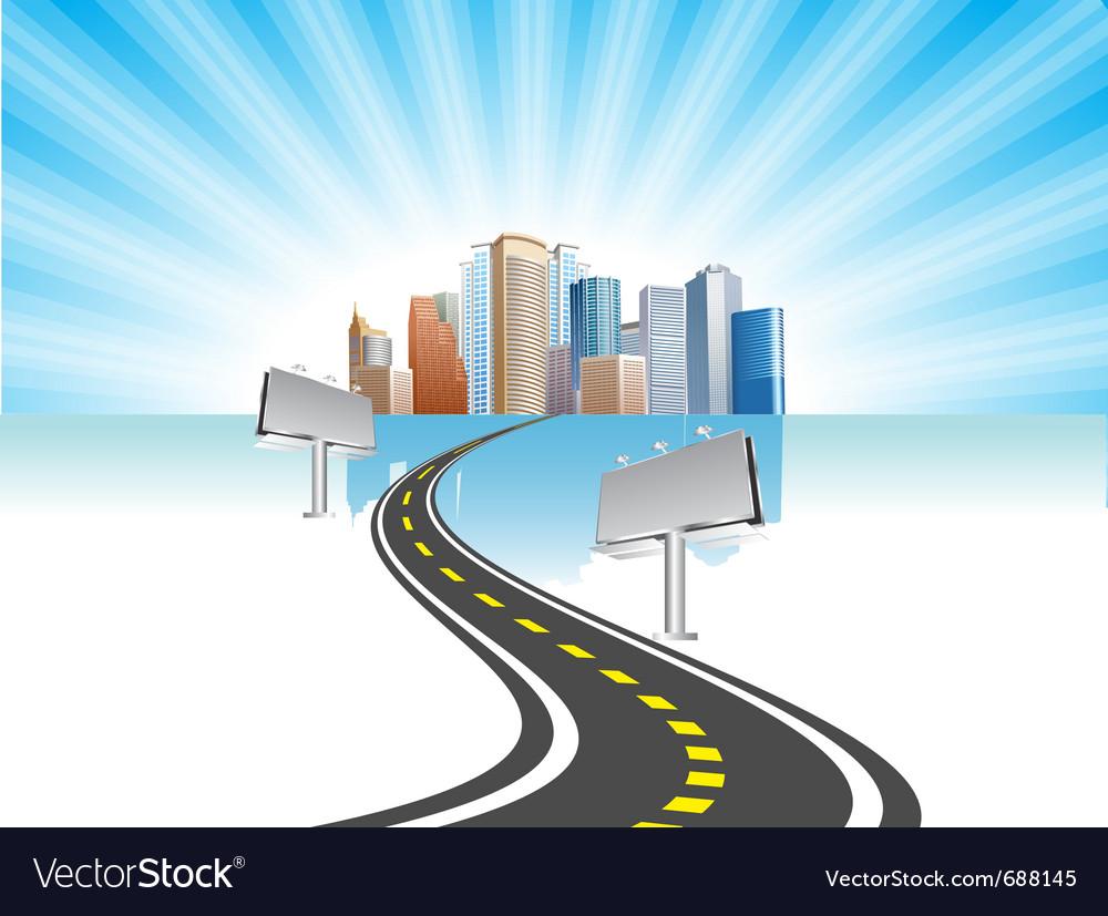 Road city vector | Price: 3 Credit (USD $3)