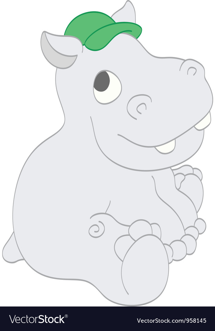 Smiling hippo vector   Price: 1 Credit (USD $1)