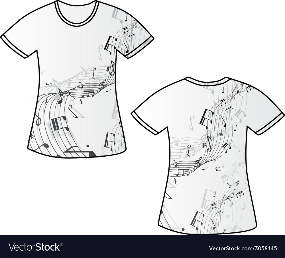 Tshirt music vector | Price: 1 Credit (USD $1)