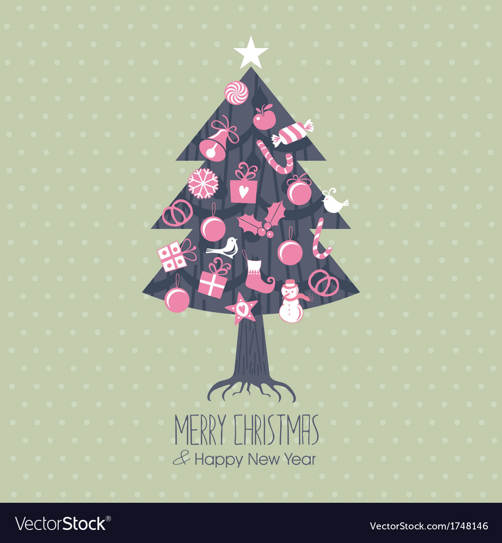 Assorted christmas tree vector | Price: 1 Credit (USD $1)