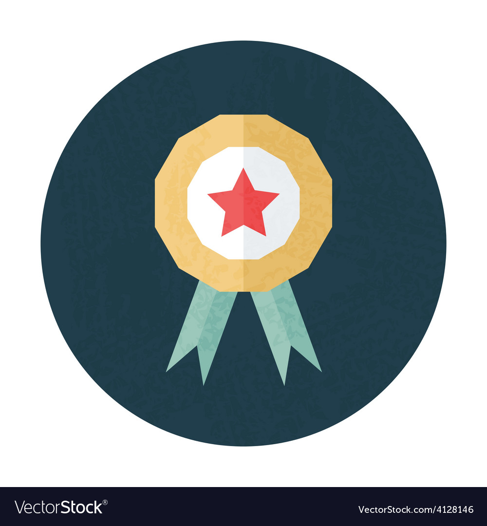 Award pencil texture stylized circle icon vector | Price: 1 Credit (USD $1)