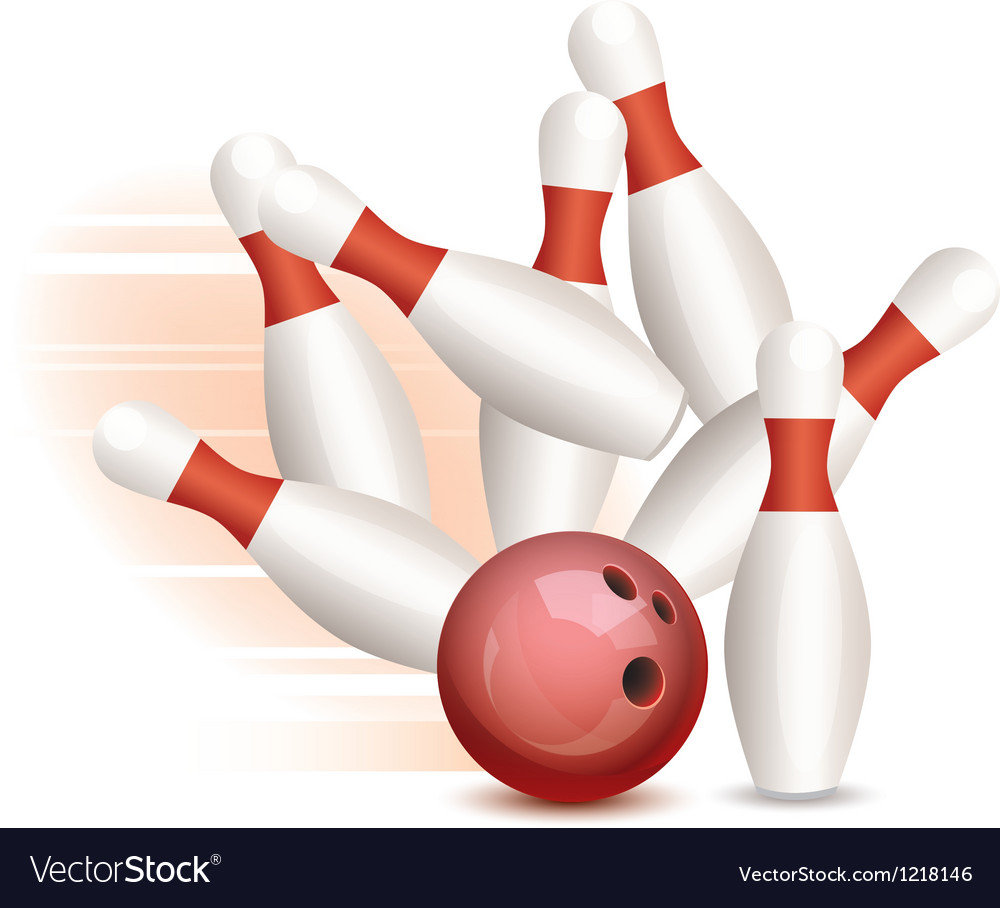 Bowling ball and pins vector | Price: 1 Credit (USD $1)