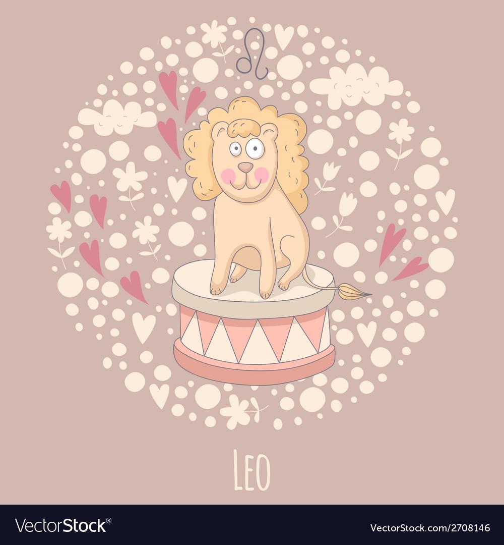 Cartoon of the lion leo vector | Price: 1 Credit (USD $1)