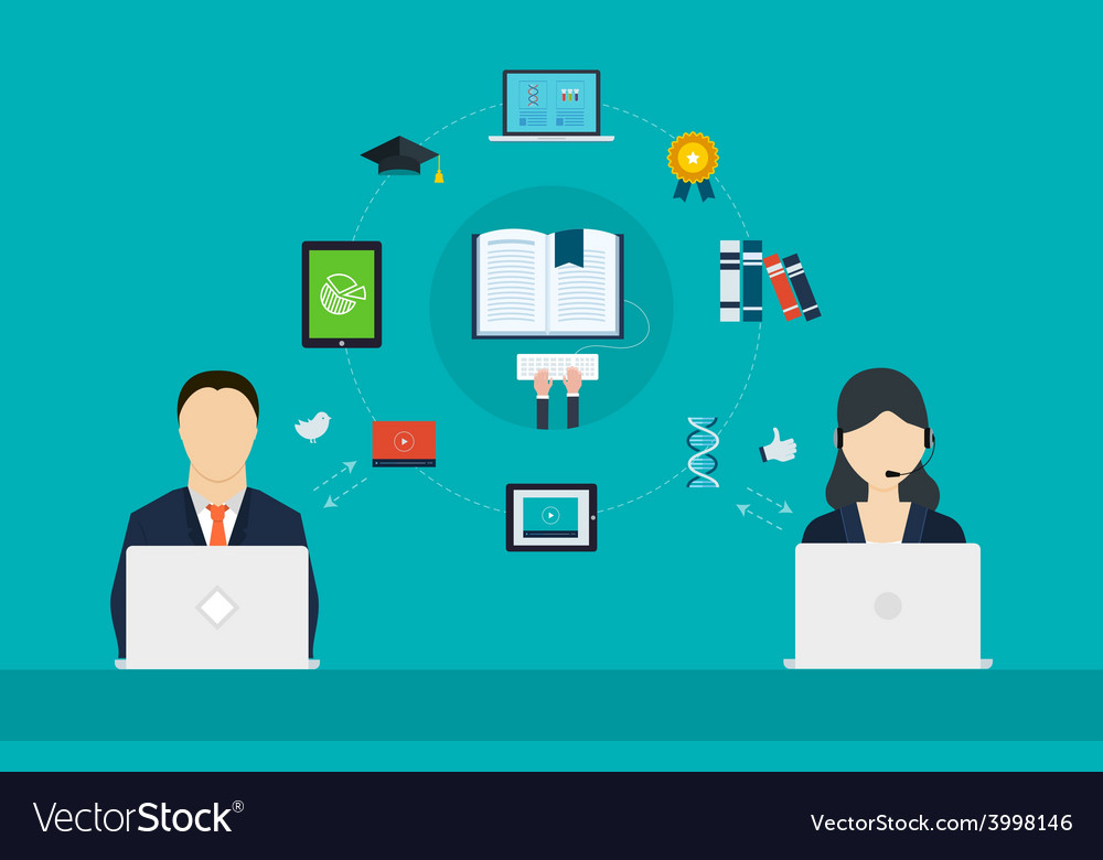 Concept of consulting services and e-learning vector   Price: 1 Credit (USD $1)