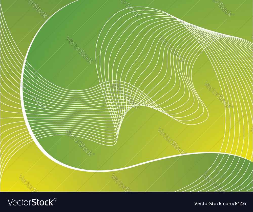 Green background with white waves vector | Price: 1 Credit (USD $1)