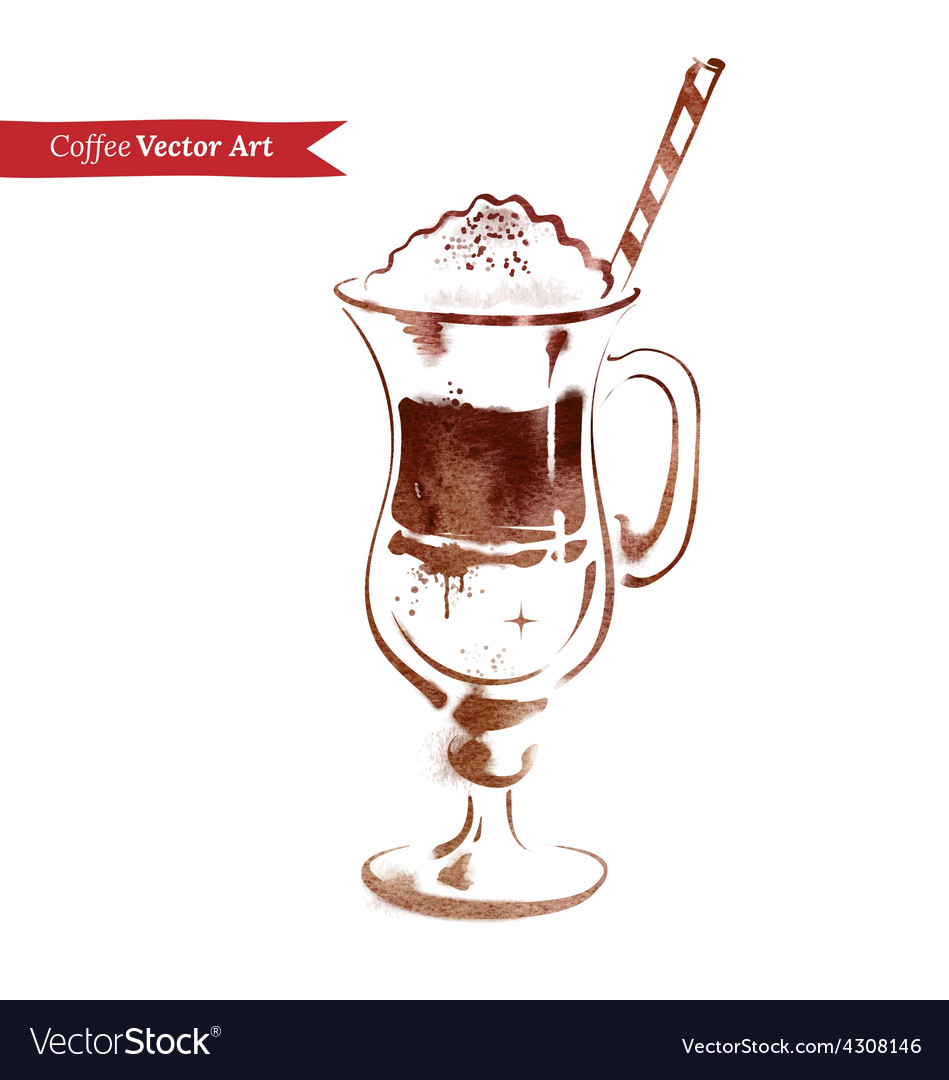 Latte vector | Price: 1 Credit (USD $1)