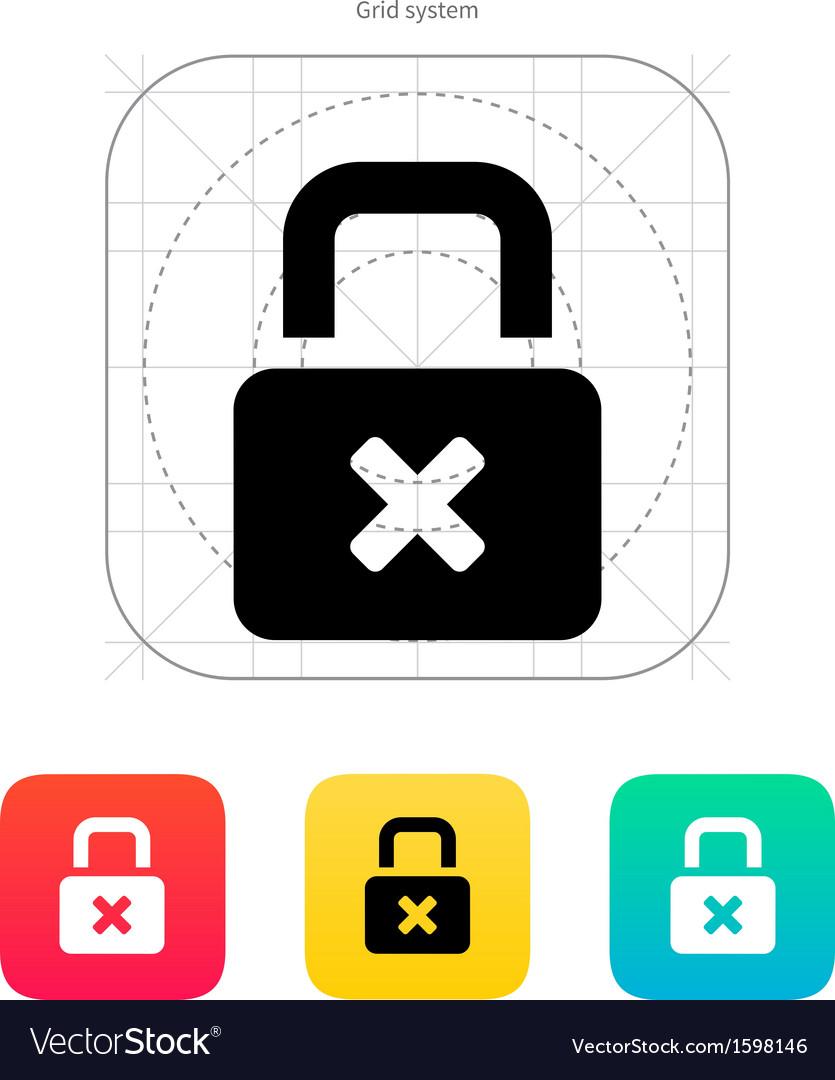Lock is close icon vector | Price: 1 Credit (USD $1)