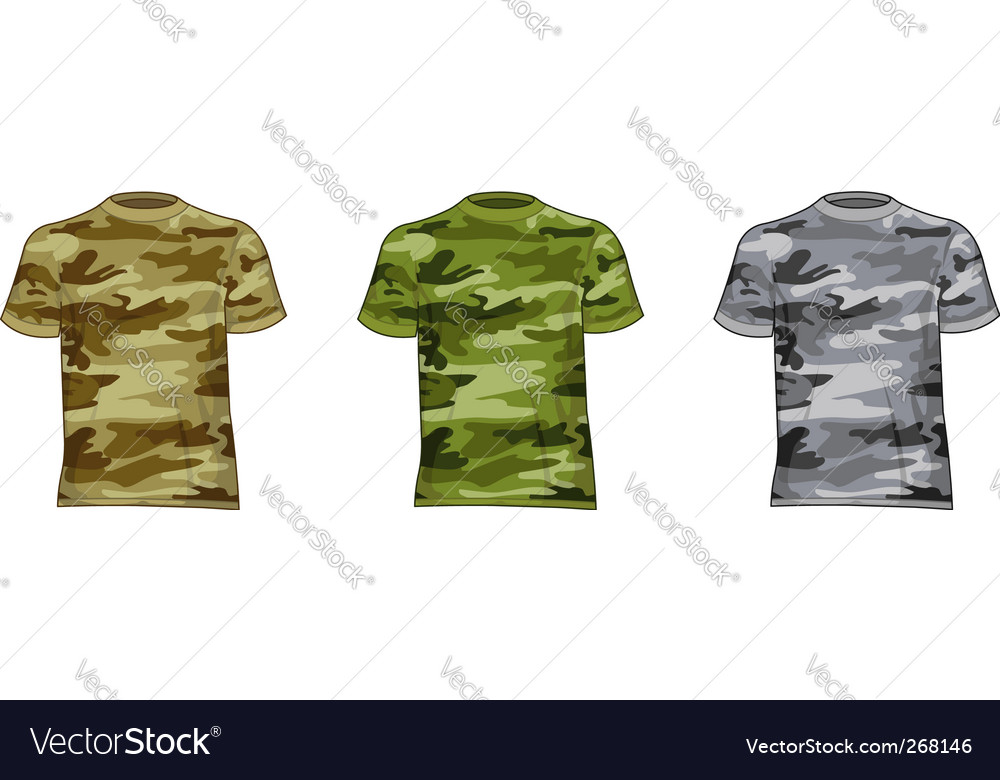 Military shirts vector | Price: 1 Credit (USD $1)