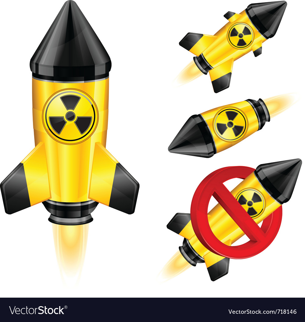 Nuclear retro rocket vector | Price: 1 Credit (USD $1)