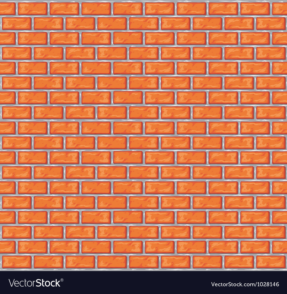 Orange brick wall background vector | Price: 1 Credit (USD $1)