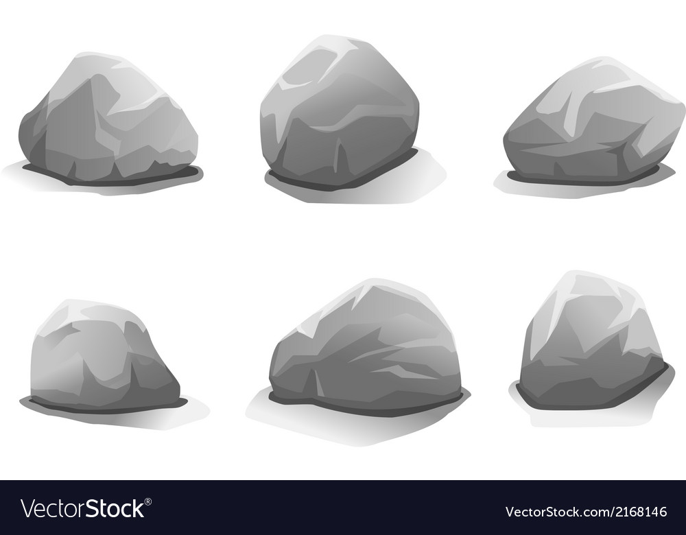 Set of stones vector | Price: 1 Credit (USD $1)