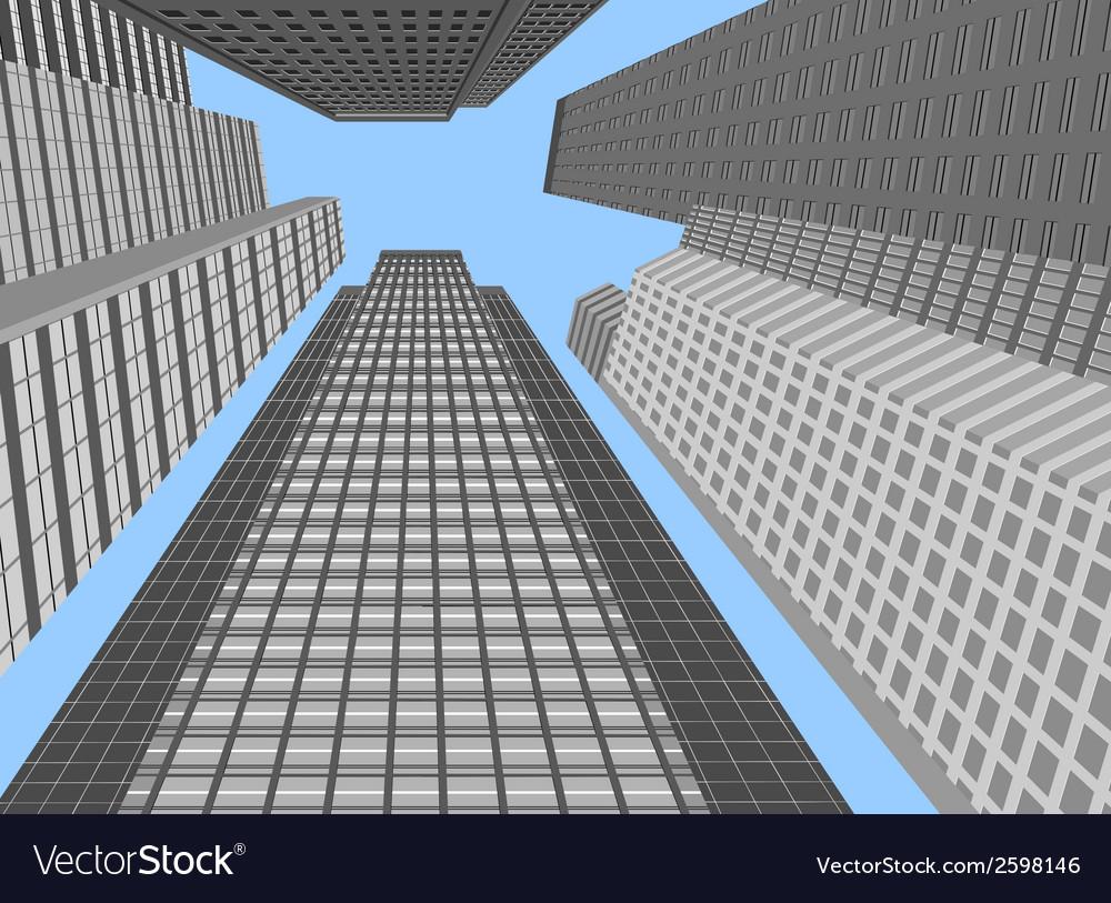 Skyscraper modern building vector | Price: 1 Credit (USD $1)