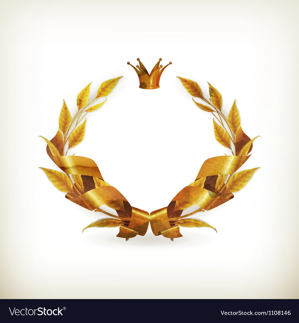 Wreath gold old-style vector | Price: 1 Credit (USD $1)