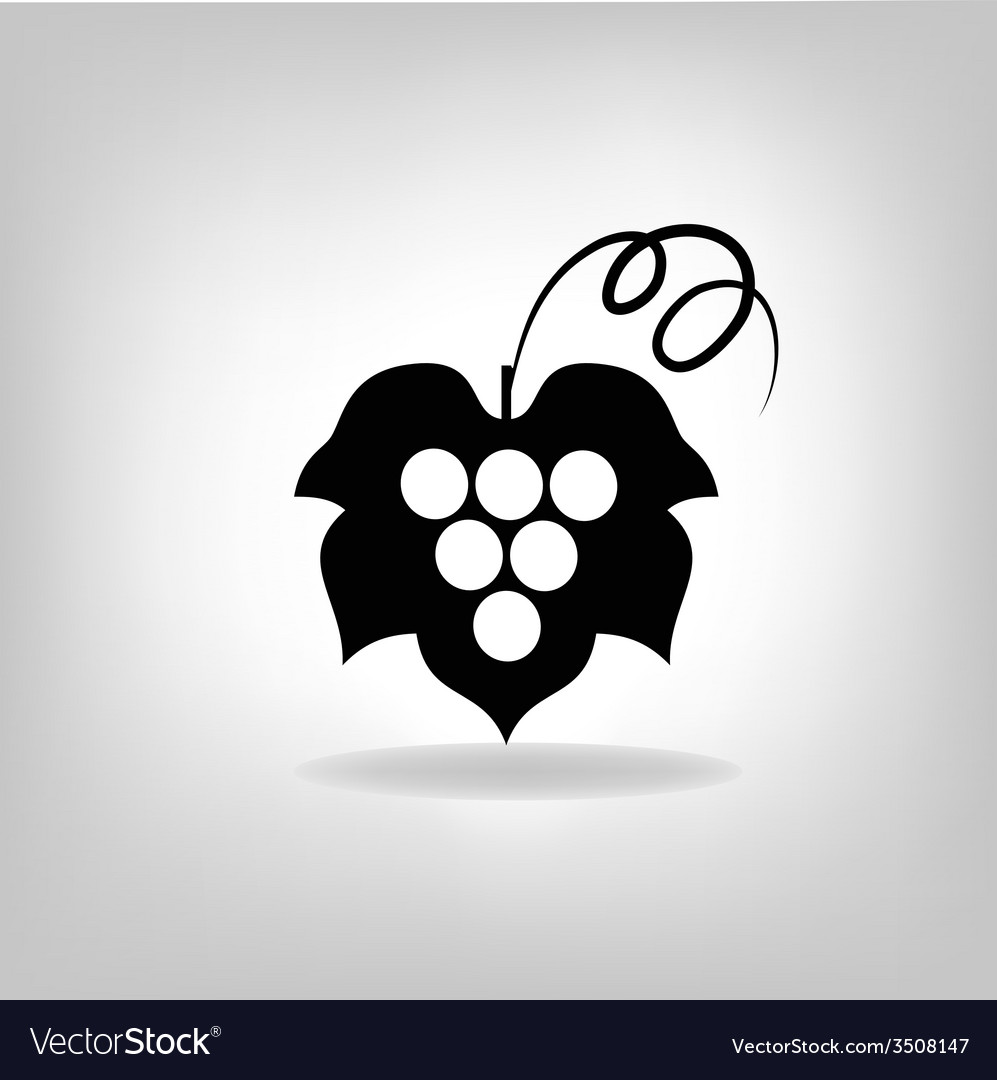Black silhouette of grapes vector   Price: 1 Credit (USD $1)