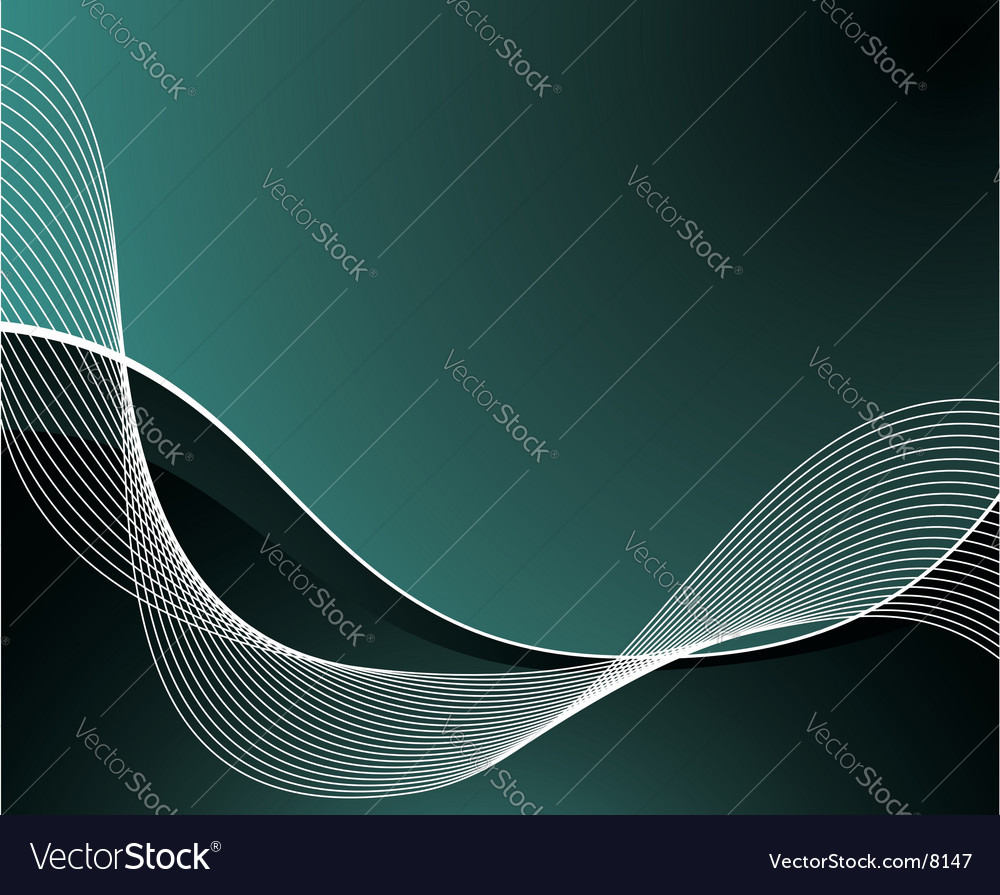 Blue background with white waves vector | Price: 1 Credit (USD $1)