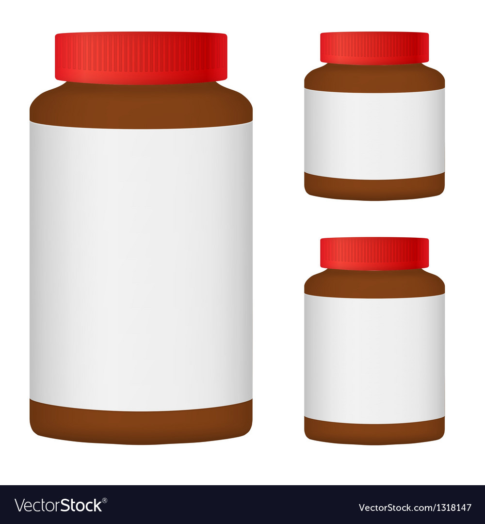 Brown blank bottle set for packaging design set 3 vector | Price: 1 Credit (USD $1)