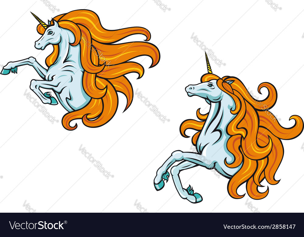 Cartoon unicorn characters vector | Price: 1 Credit (USD $1)