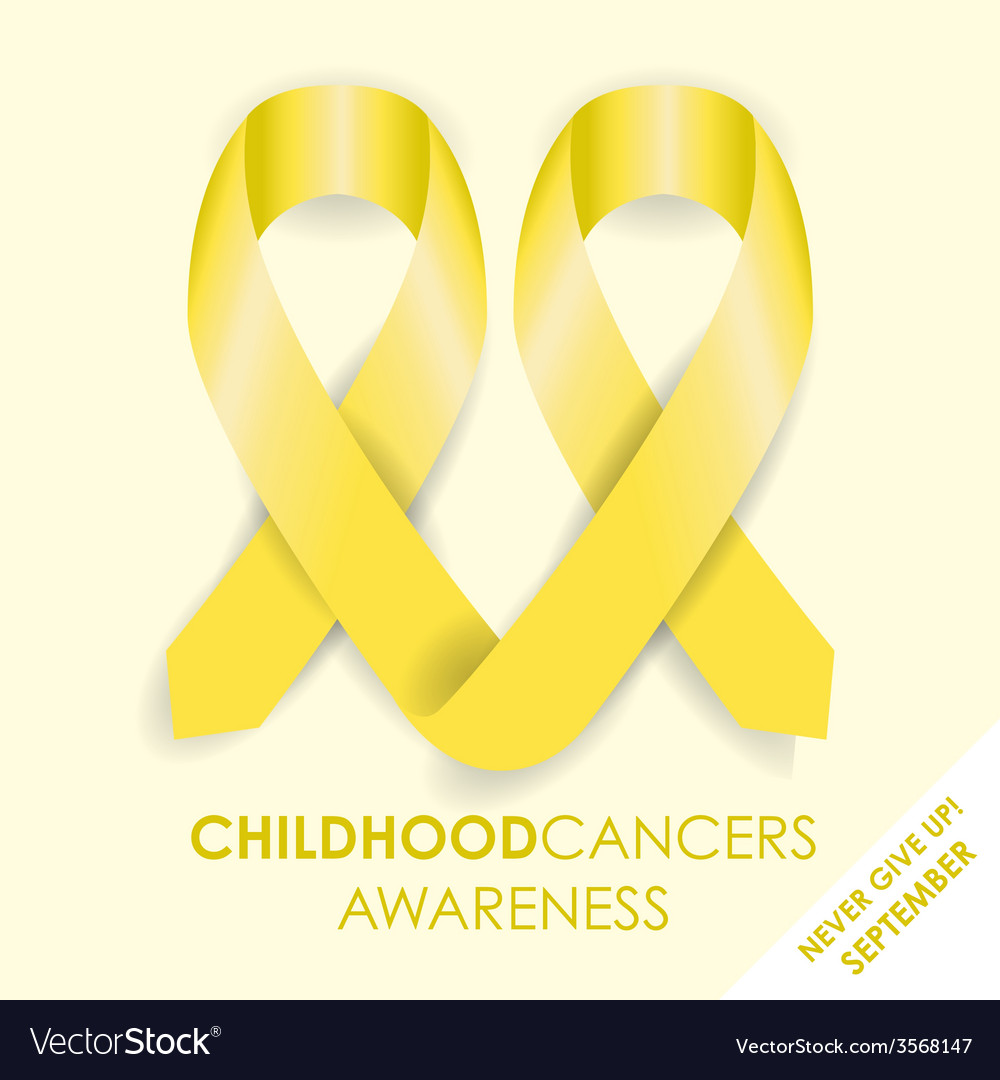 Childhood cancers ribbon vector | Price: 1 Credit (USD $1)