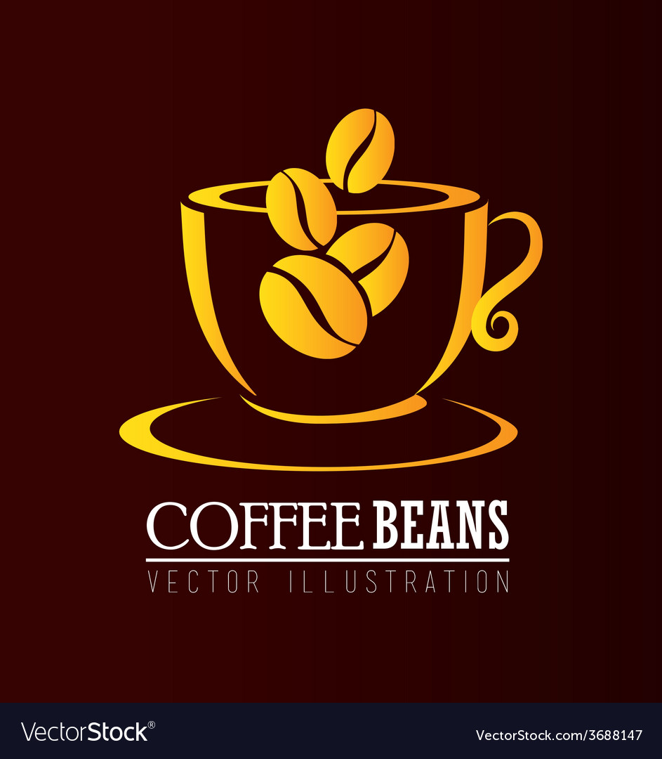 Coffee design over brown background vector | Price: 1 Credit (USD $1)