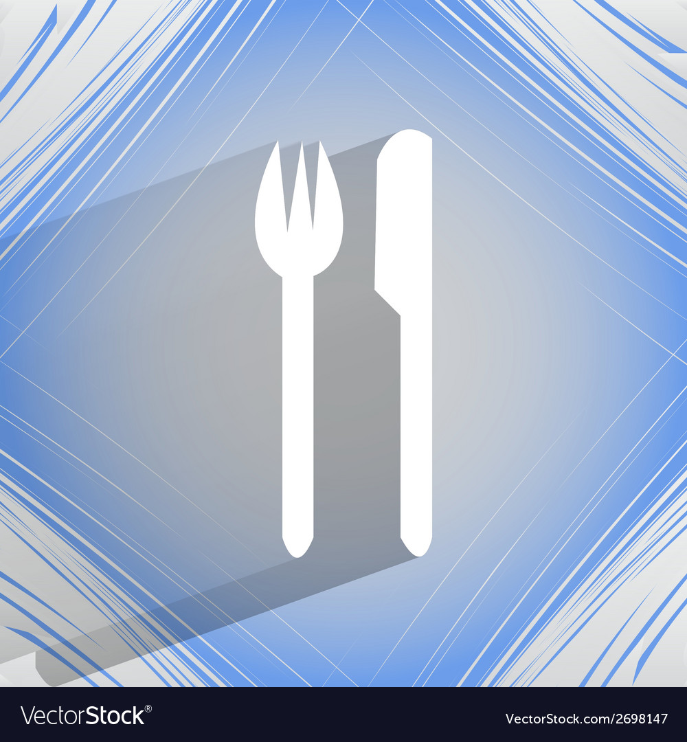 Cutlery knife fork flat modern web design on a vector   Price: 1 Credit (USD $1)
