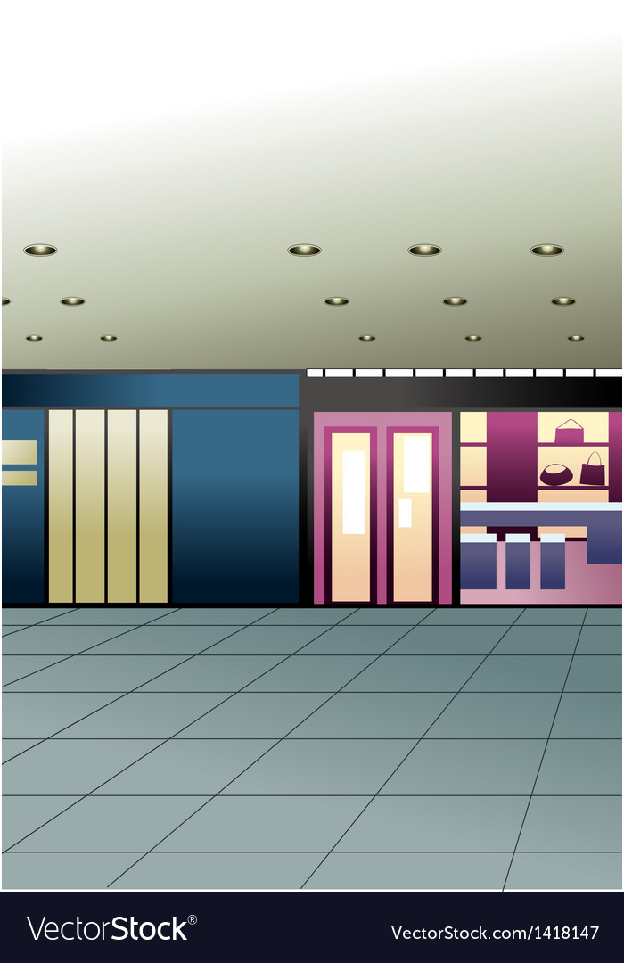 Mall shops vector | Price: 1 Credit (USD $1)